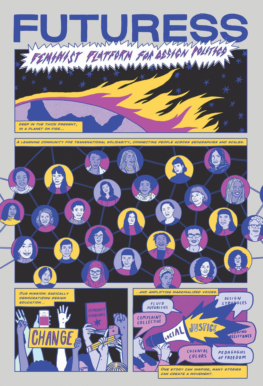 Illustration der feministischen Plattform Futuress, 2021. © Maria Júlia Rêgo.